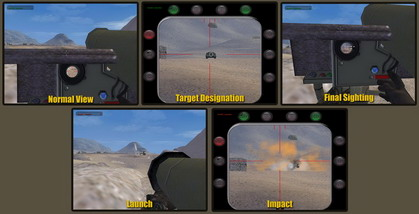 Javelin missile screen